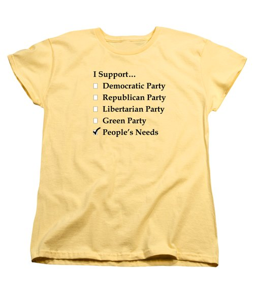 Political Support Women's T-Shirt (Standard Cut) by Patrick Witz