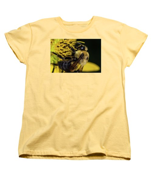 Women's T-Shirt (Standard Cut) featuring the photograph Pollen Collector  by Jay Stockhaus