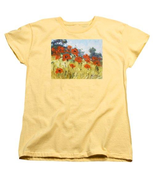 Poppies 3 Women's T-Shirt (Standard Cut)