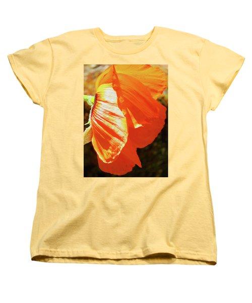 Poppy Profile - Beauty In The Garden Women's T-Shirt (Standard Cut) by Brooks Garten Hauschild