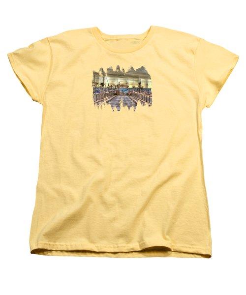 Port Of Newport - Dock 5 Women's T-Shirt (Standard Cut) by Thom Zehrfeld