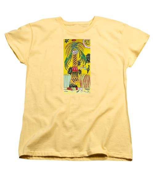 Women's T-Shirt (Standard Cut) featuring the painting Portal To Adventure by Artists With Autism Inc