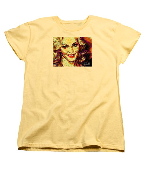 Portrait Of Madonna Women's T-Shirt (Standard Cut) by Zedi