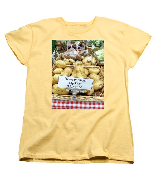 Potatoes At The Market  Women's T-Shirt (Standard Cut) by Tom Gowanlock