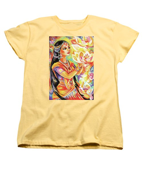 Pray Of The Lotus River Women's T-Shirt (Standard Cut) by Eva Campbell