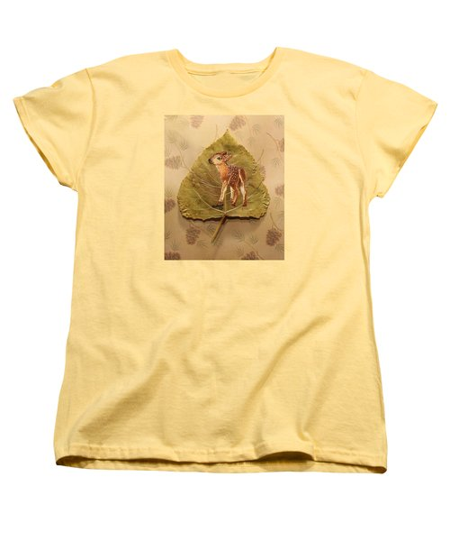 Pretty Baby Deer Women's T-Shirt (Standard Cut) by Ralph Root
