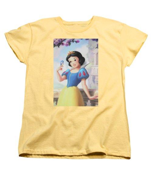 Princess Snow White Women's T-Shirt (Standard Cut) by The Art Of Marilyn Ridoutt-Greene