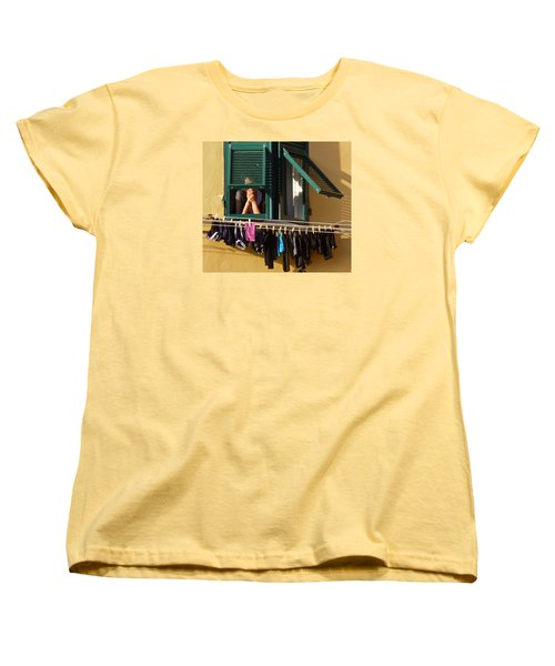 Private Moments Women's T-Shirt (Standard Cut) by Amelia Racca
