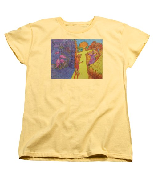 Prodigal Son Parable Painting By Bertram Poole Women's T-Shirt (Standard Cut) by Thomas Bertram POOLE
