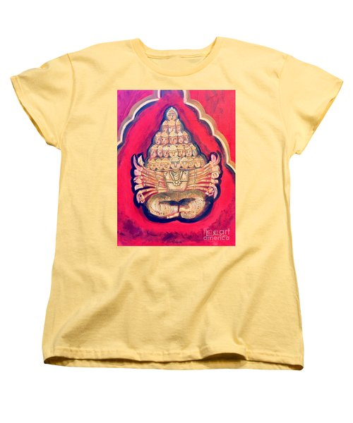 Women's T-Shirt (Standard Cut) featuring the painting Protector by Brindha Naveen