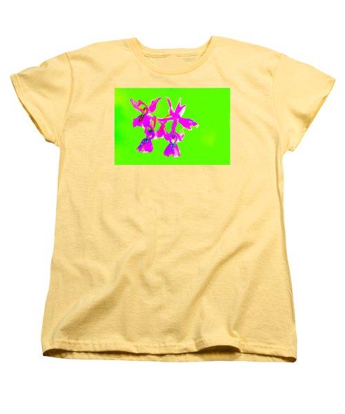 Green Provence Orchid  Women's T-Shirt (Standard Cut) by Richard Patmore