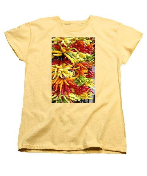 Public Market Peppers Women's T-Shirt (Standard Cut) by Henri Irizarri