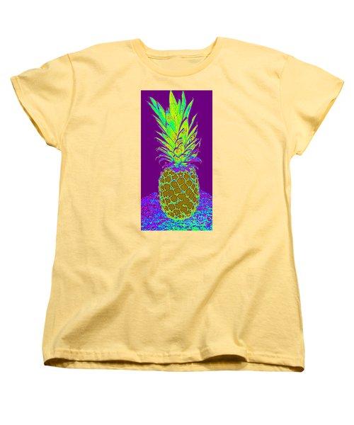 Purple Pineapple Women's T-Shirt (Standard Cut) by Jeanne Forsythe
