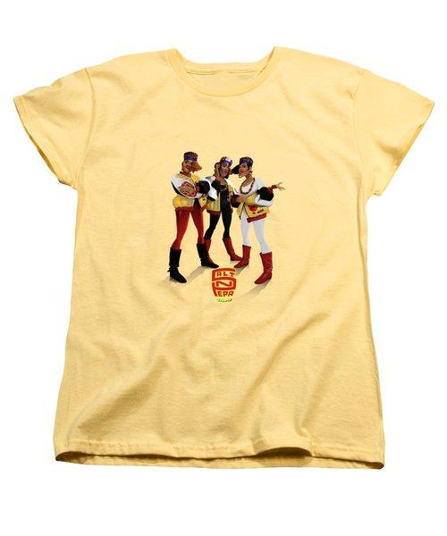 Women's T-Shirt (Standard Cut) featuring the digital art Push It by Nelson Garcia