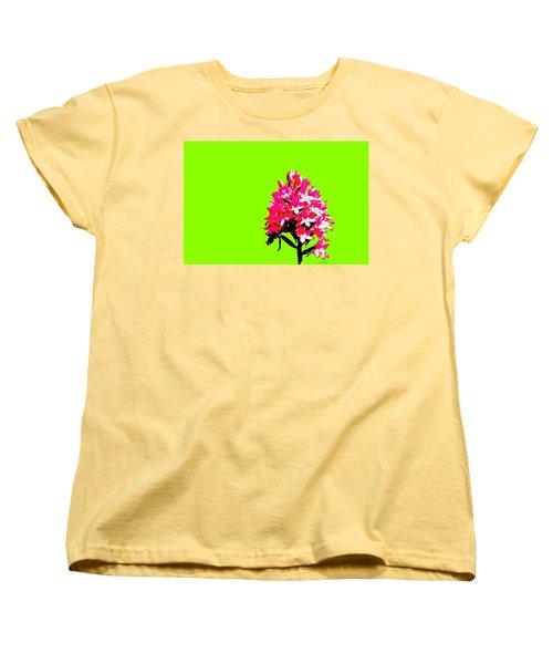 Green Pyramid Orchid Women's T-Shirt (Standard Cut) by Richard Patmore