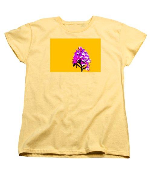 Orange Pyramid Orchid  Women's T-Shirt (Standard Cut) by Richard Patmore