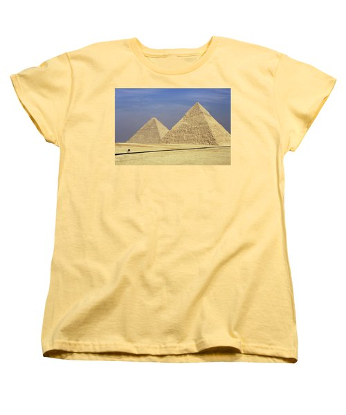 Pyramids At Giza Women's T-Shirt (Standard Cut) by Mark Greenberg