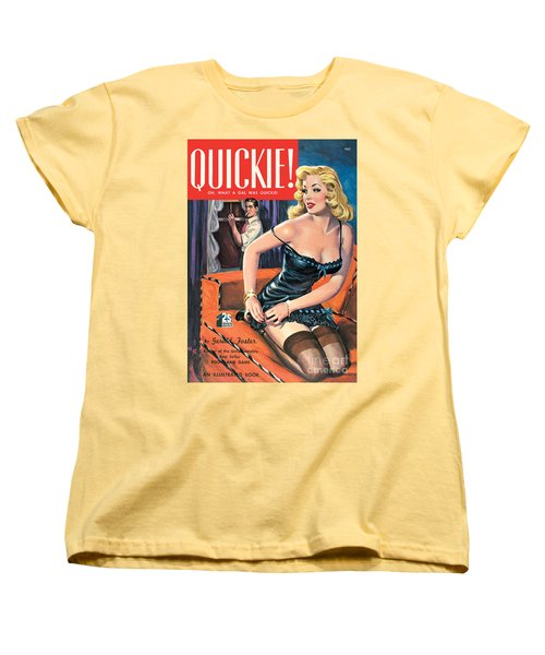 Women's T-Shirt (Standard Cut) featuring the painting Quickie by George Gross
