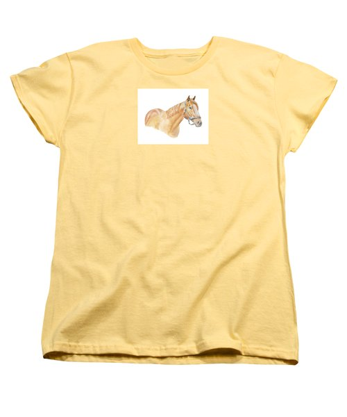 Women's T-Shirt (Standard Cut) featuring the painting Racehorse by Elizabeth Lock