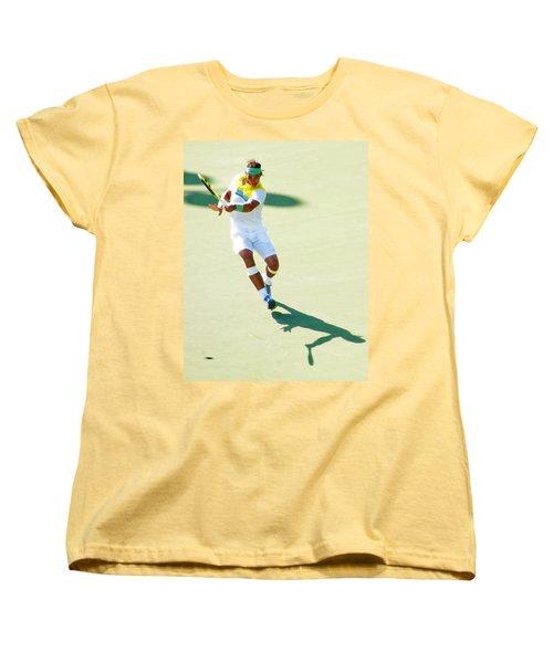 Rafael Nadal Shadow Play Women's T-Shirt (Standard Cut) by Steven Sparks