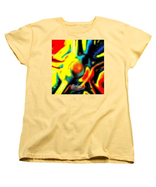 Women's T-Shirt (Standard Cut) featuring the photograph Rainbow Bliss #051347 by Barbara Tristan