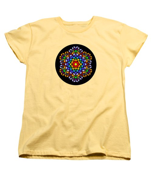 Rainbow Mandala By Kaye Menner Women's T-Shirt (Standard Cut) by Kaye Menner
