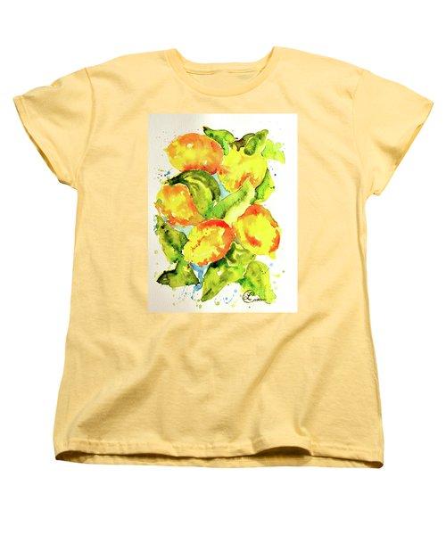 Rainwashed Lemons Women's T-Shirt (Standard Cut) by Lynda Cookson