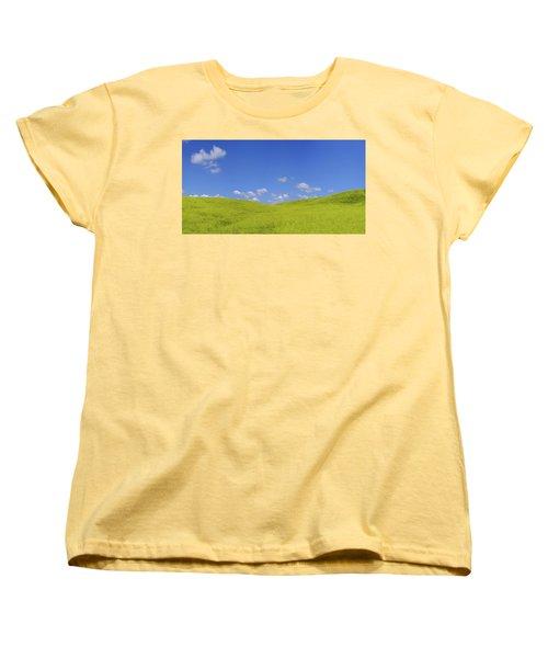 Rapeseed Landscape Women's T-Shirt (Standard Cut) by Marius Sipa