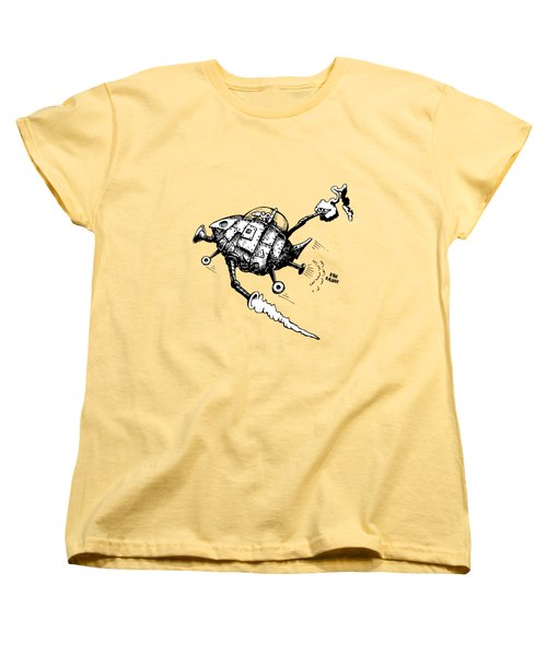 Rats In Space Women's T-Shirt (Standard Cut) by Kim Gauge