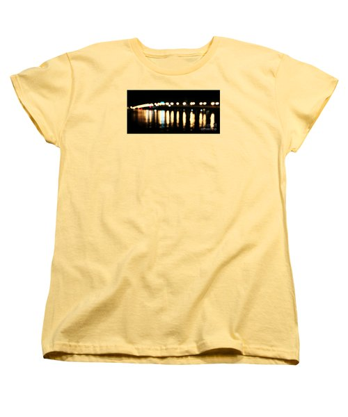 Bridge Of Lions -  Old City Lights Women's T-Shirt (Standard Cut) by LeeAnn Kendall