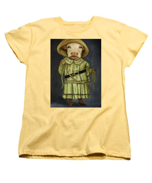 Real Cowgirl 2 Women's T-Shirt (Standard Cut) by Leah Saulnier The Painting Maniac