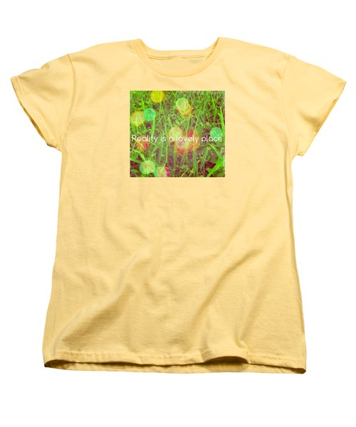 Reality Women's T-Shirt (Standard Cut) by Artists With Autism Inc