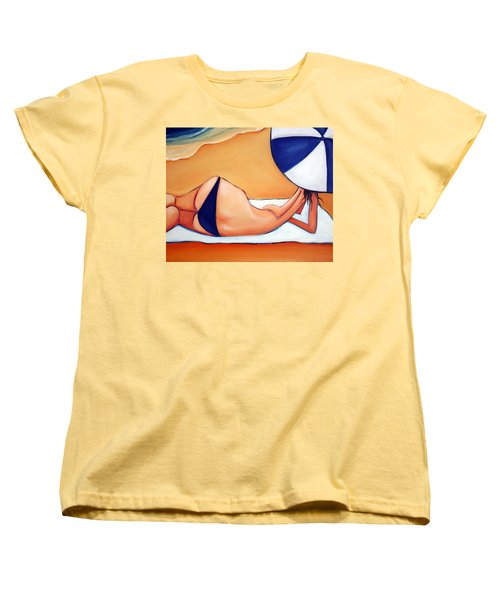 Reclining At Manly Women's T-Shirt (Standard Cut) by Leanne Wilkes
