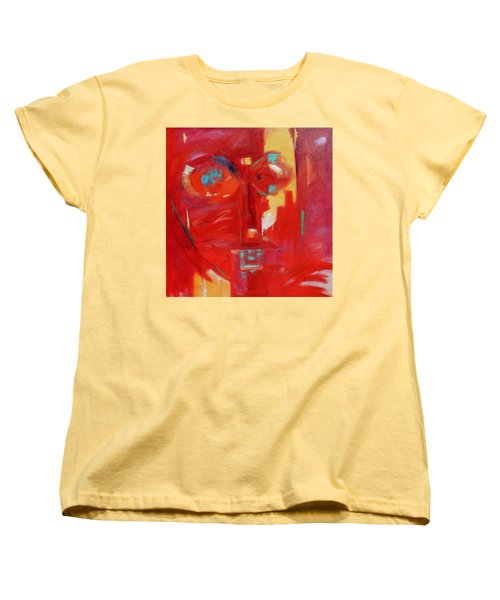 Women's T-Shirt (Standard Cut) featuring the painting Red Face by Gary Coleman