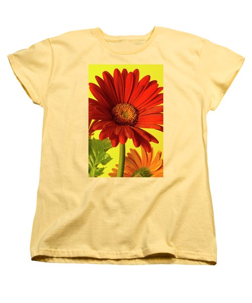 Red Gerbera Daisy 2 Women's T-Shirt (Standard Cut) by Richard Rizzo