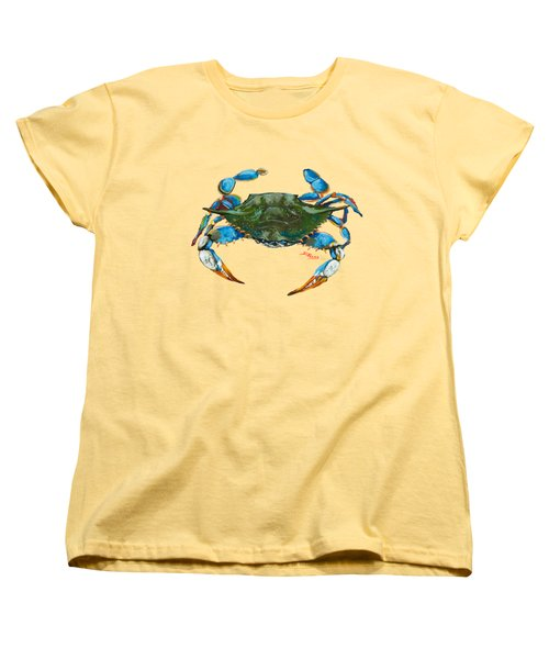 Red Hot Crab Women's T-Shirt (Standard Cut) by Dianne Parks