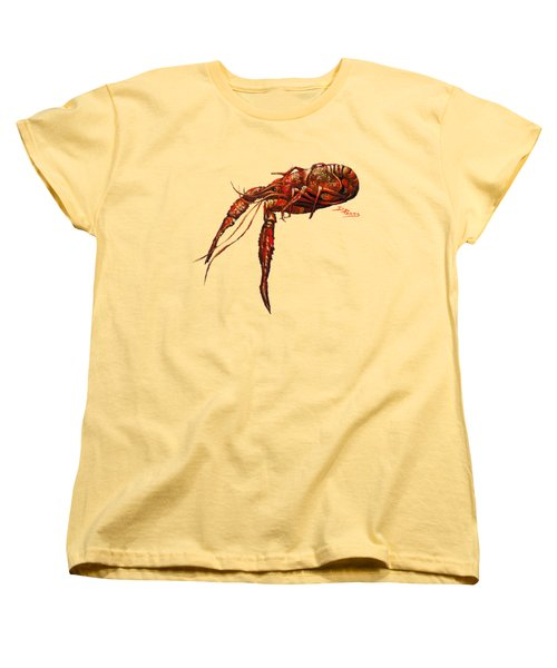 Red Hot Crawfish Women's T-Shirt (Standard Cut) by Dianne Parks
