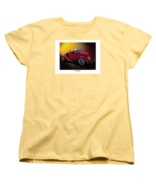 Women's T-Shirt (Standard Cut) featuring the photograph Red Hot Rod by Kenneth De Tore