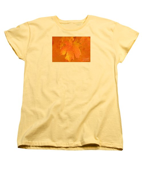 Red Maple Autumn Women's T-Shirt (Standard Cut) by Marion Johnson