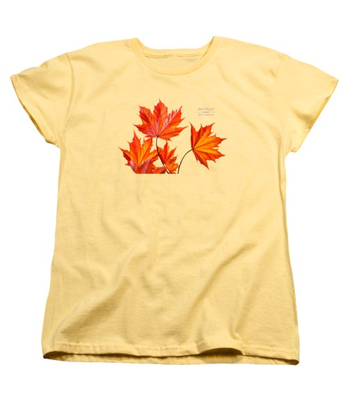Red Maple Women's T-Shirt (Standard Cut) by Christina Rollo