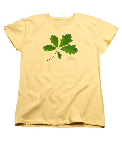 Women's T-Shirt (Standard Cut) featuring the photograph Red Oak by Christina Rollo