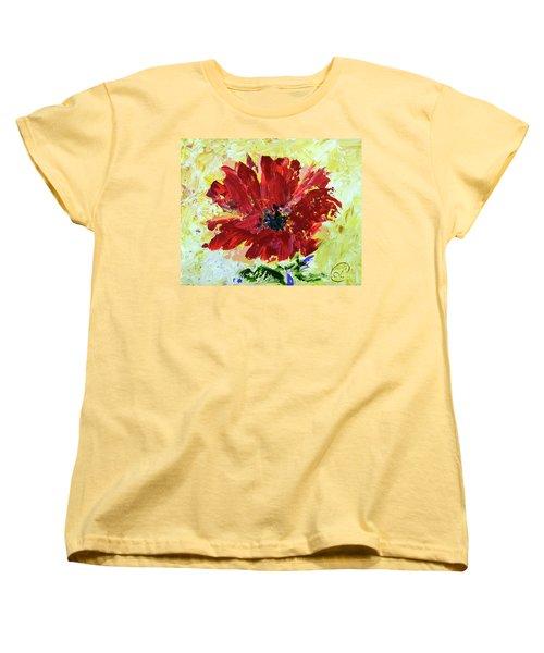 Red Poppy Women's T-Shirt (Standard Cut) by Lynda Cookson