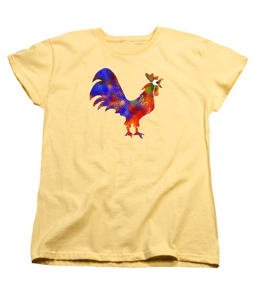 Red Rooster Art Women's T-Shirt (Standard Cut) by Christina Rollo