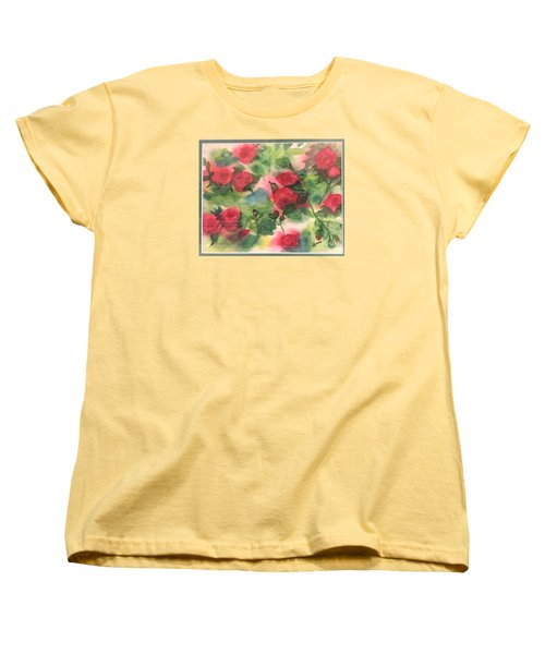 Red Roses Women's T-Shirt (Standard Cut) by Lucia Grilletto