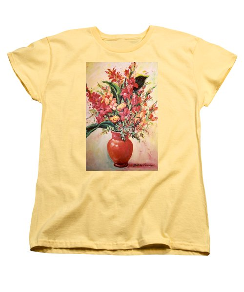 Red Vase Women's T-Shirt (Standard Cut) by Alexandra Maria Ethlyn Cheshire