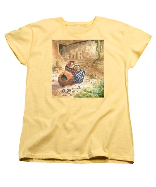 Women's T-Shirt (Standard Cut) featuring the painting Remnants Of The Ancient Ones by Marilyn Smith