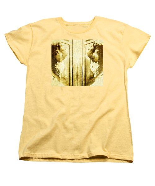 Women's T-Shirt (Standard Cut) featuring the digital art Reversed Mirror by Andrea Barbieri