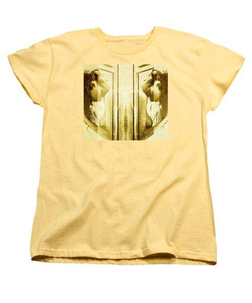 Reversed Mirror Women's T-Shirt (Standard Cut) by Andrea Barbieri