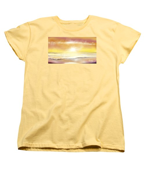 Women's T-Shirt (Standard Cut) featuring the painting Rise And Shine by Dawn Harrell