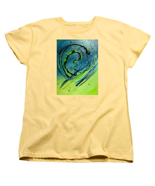 Women's T-Shirt (Standard Cut) featuring the painting Rolling Down The River by Mary Kay Holladay
